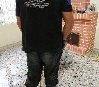 pulido de piso de granito