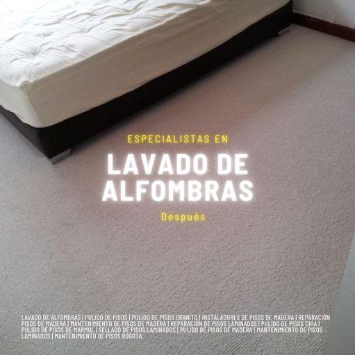 Lavado de alfombras bogota despues