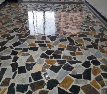 Pulido de piso de marmol sala