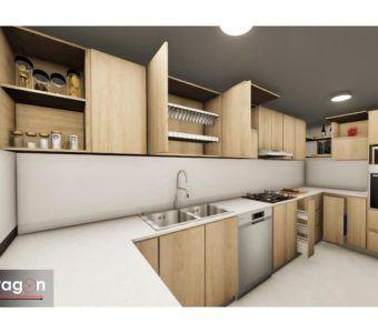 Modelo 3d de cocina integral